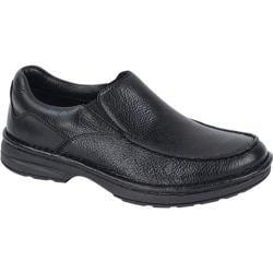 Men's Aetrex Moc Slip-On Black Burnished Leather