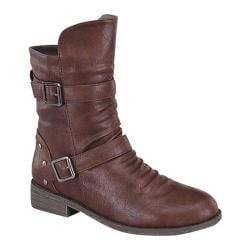 Women's Beston Fay-1 Brown Faux Leather