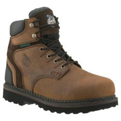 Men's Georgia Boot G7134 6in Brookville WP Work Shoe Dark Brown Leather