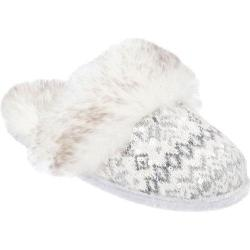 Women's Dearfoams Sequin Fair Isle Scuff White Multi