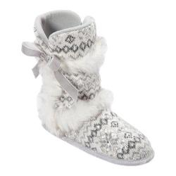 Women's Dearfoams Sequin Fair Isle Boot White Multi