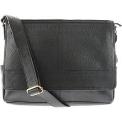R&R Leather Messenger Bag 4-444-1B Black