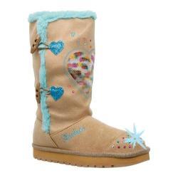 Girls' Skechers Twinkle Toes Keepsakes Heart Warmer Natural/Blue