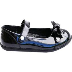 Girls' Bumbums & Baubles Lily Mary Jane Black Glam Patent Leather