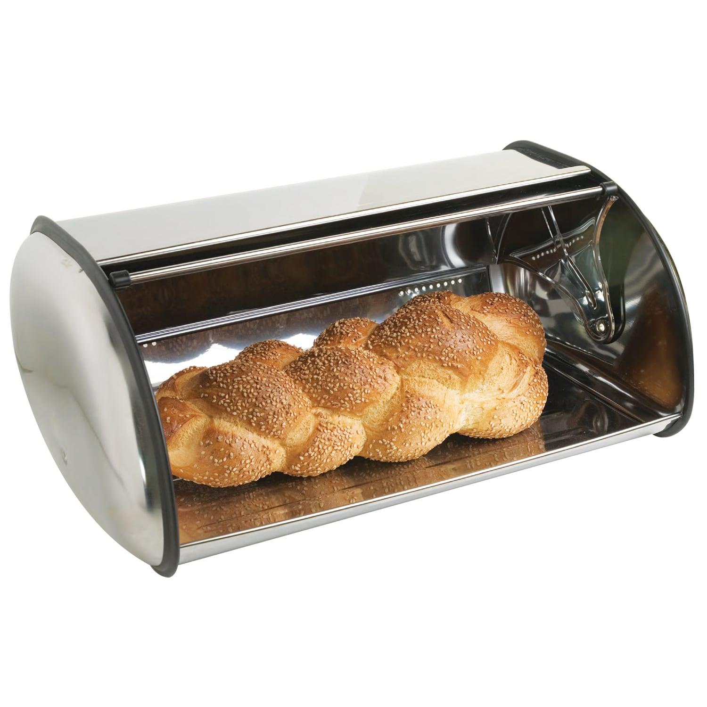 Sleek Stainless Steel Breadbox