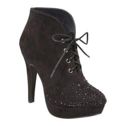 Women's Beston Lady-18 Black Faux Suede
