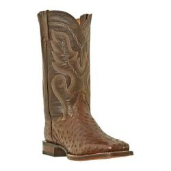 Men's Dan Post Boots Chandler DP2981 Tobacco Waxy Full Quill Ostrich