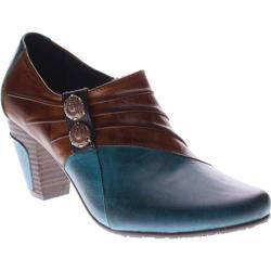 Women's L'Artiste by Spring Step Joella Turquoise/Medium Brown Leather