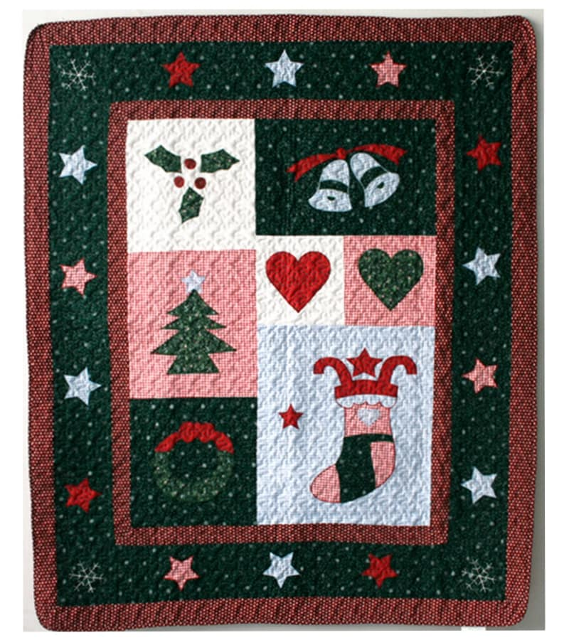 Christmas Night Quilted Throw