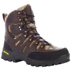 Men's Georgia Boot G7443 6in Crossridge Work Boots Dark Chocolate Full Grain Leather/Realtree AP