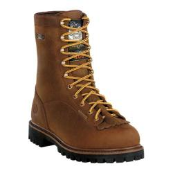 Men's Georgia Boot G80 8in Insulated Waterproof Dark Tan Cheyenne Leather