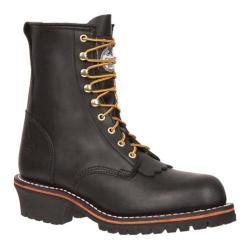 Men's Georgia Boot G81 8in Logger Kelty Black Oil Tanned Leather