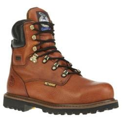 Men's Georgia Boot G83 8in Steel Toe Metatarsal Comfort Core Welt Greasy Briar Full Grain Leather