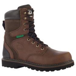 Men's Georgia Boot G9134 8in Brookville WP Work Boot Dark Brown Leather