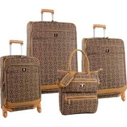 Anne Klein Brown/Tan Kyoto 4-piece Spinner Luggage Set