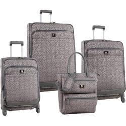 Anne Klein Kyoto Grey/Pewter 4-piece Spinner Luggage Set