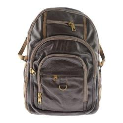 Men's R&R Leather Backpack 4-425-3D Brown