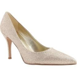 Women's Nine West Flax 3 Light Gold Synthetic