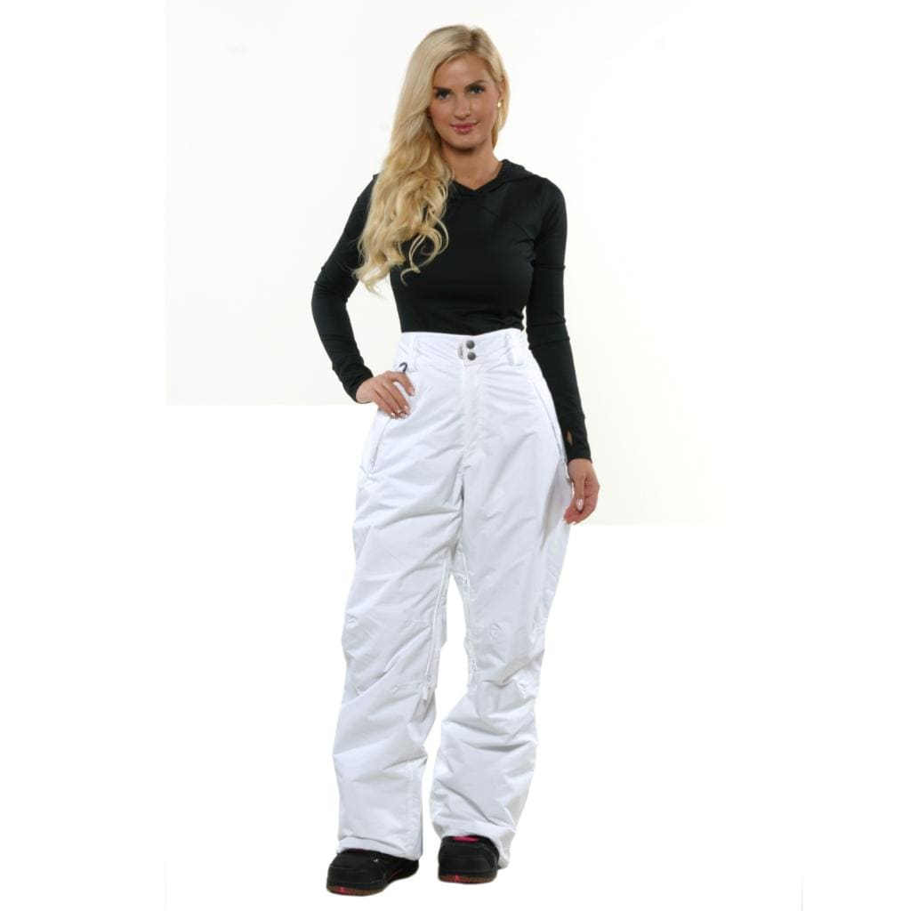 Pulse Women's White Low Rise Plus Size Insulated Fit Pants