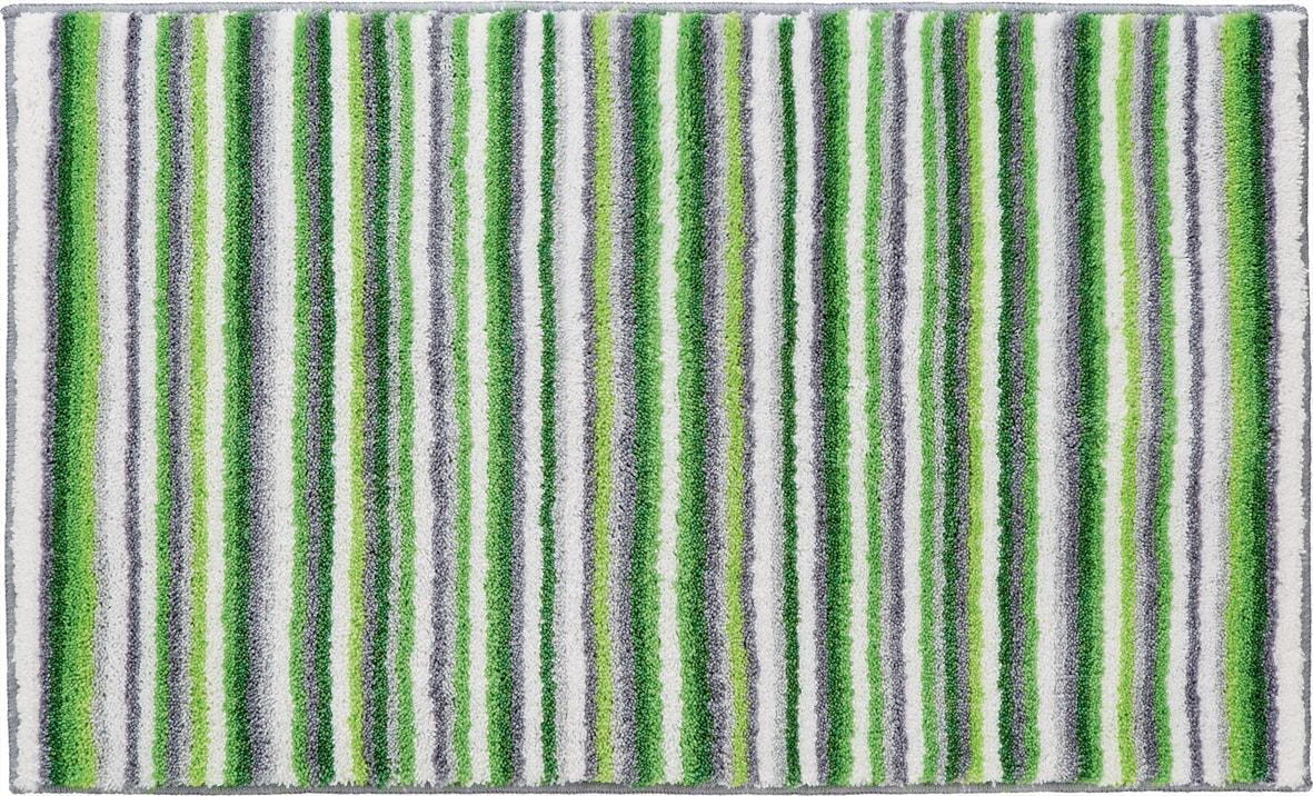 Striped Green/ Grey Non-slip Bath Rug