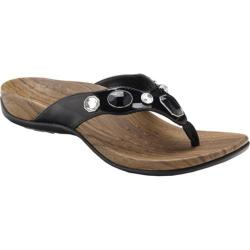 Women's Vionic with Orthaheel Technology Eve Black Patent