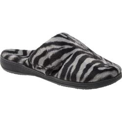 Women's Vionic with Orthaheel Technology Gemma Slipper Dark Grey Zebra