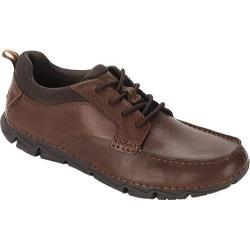 Men's Rockport Rocsports Lite 2 Moc Toe Dark Brown Tumbled Leather