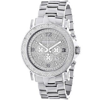 Luxurman Men's Oversized Diamond Watch
