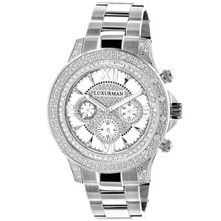 Luxurman Men's Diamond Watch