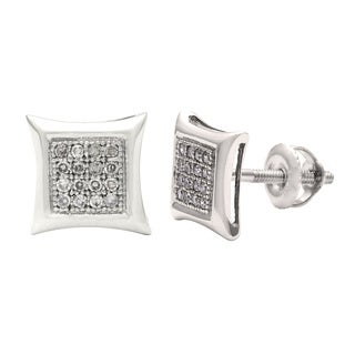14k White Gold 1/5ct TDW Diamond Pave Stud Earrings (I-J, I1-I2)