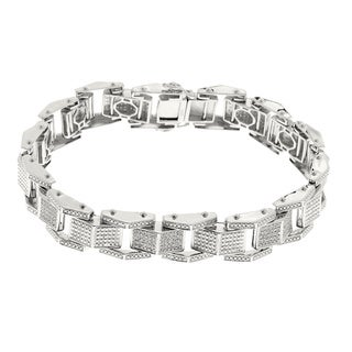 Sterling Silver 4/5ct TDW Mens Diamond Bracelet (H-I, I1-I2)