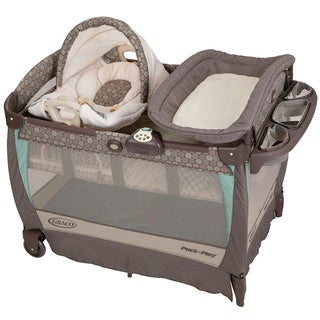 Graco Pack 'n Play Playard with Cuddle Cove Rocking Seat in Capri
