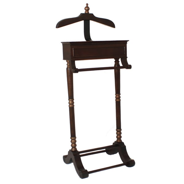 casa cortes cherry butler valet stand clothing rack