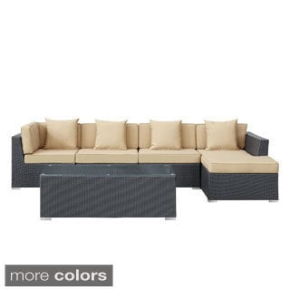 5-piece Espresso Patio Sectional Set