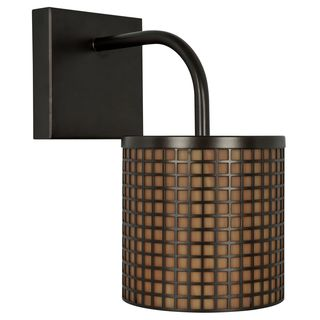 Oil-rubbed Bronze Lattice 1-light Outdoor Lantern