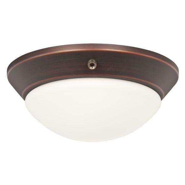 Rubbed Bronze Twist-on Celing Fan Light Kit