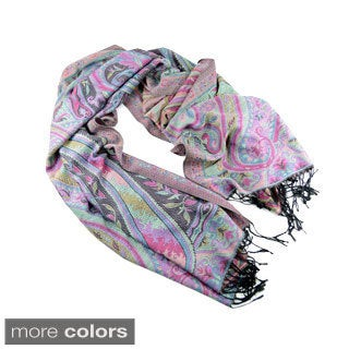 Paisley and Floral Fringe Fashion Scarf