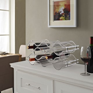 'Reserve' Clear Acrylic Wine Bottle Rack