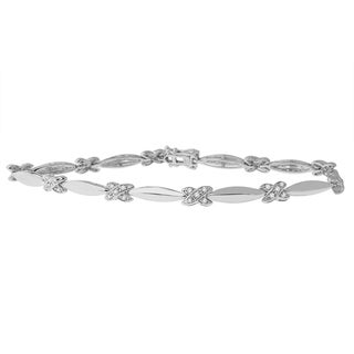 Sterling Silver 1/2ct Diamond X Link Bracelet (I-J,I1-I2)