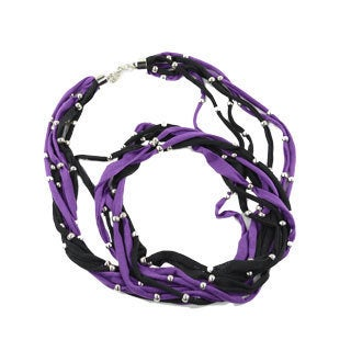 Black and Purple Fashion Jewelry Infinity Scarf