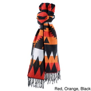 Large Native Navajo-sytle Colorful Tapestry Scarf