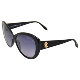 Roberto Cavalli Women's 'RC727S Temoe 01B' Black Sunglasses