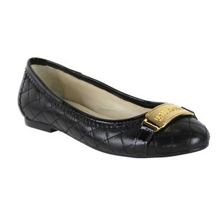 John Galliano Women's Black Quilted Leather Loafers