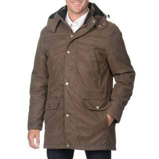 Pier 91 Men's Army Goose Down Parka with Removable Hood