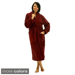 Del Rossa Women's Thick Shawl Collar Terry Cotton Robe