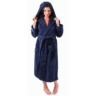 Del Rossa Women's Thick Hooded Terry Cotton Robe
