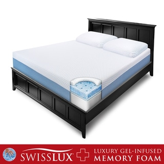 SwissLux 10-inch Queen-size Gel Memory Foam Mattress