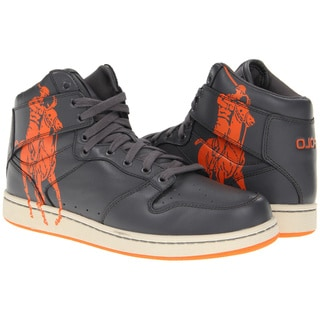 Ralph Lauren Men's 'Vance' Grey Leather High-top Sneakers