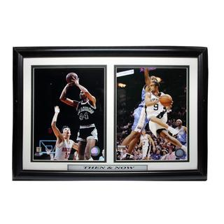 San Antonio Spurs Then and Now 18 x 18 Double Photo Frame