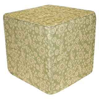 Green Roopa Pouf Ottoman (India)